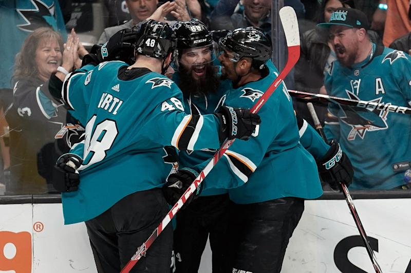 new style 8647c caeb2 NHL Playoff 2019 Roundup  San Jose Sharks advance to Western Conference  Final