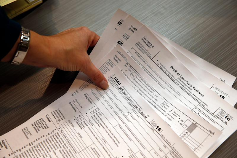 Tax forms on Jan. 14, 2017, in Boulder, Colorado.