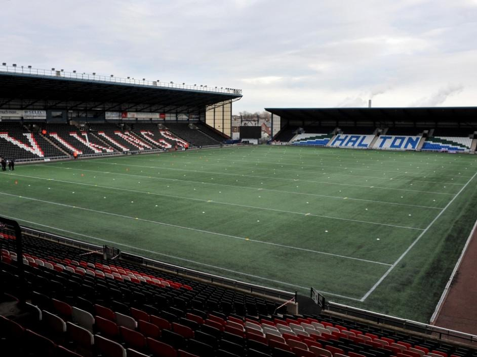 A general view of Widnes Vikings' Select Security Stadium: Getty
