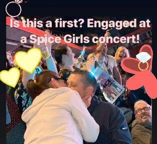 This couple got engaged at a Spice Girls gig (Credit: Instagram/MelanieCMusic)