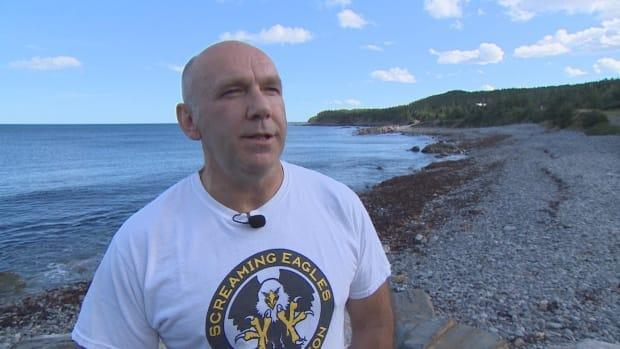 Witless Bay resident Chris Ryan says a stop-work order is the latest chapter in the saga of a proposed development on Ragged Beach. (CBC - image credit)