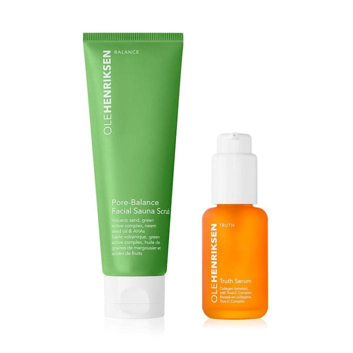 """<h3>Ole Henriksen<br></h3> <br><strong>Dates:</strong> 7/3 - 7/6<br><strong>Sale:</strong> Get a free mini 3-piece set with any order of $50+ <br><strong>Promo Code: </strong>SUMMERGLOW <br><br><em><strong>Shop</strong> <a href=""""https://fave.co/31DUsCN"""" rel=""""nofollow noopener"""" target=""""_blank"""" data-ylk=""""slk:olehenriksen.com"""" class=""""link rapid-noclick-resp"""">olehenriksen.com</a></em><br><br><strong>Ole Henriksen</strong> C The Smooth Mini Facial ($78 value), $, available at <a href=""""https://go.skimresources.com/?id=30283X879131&url=https%3A%2F%2Ffave.co%2F3dVmAE7"""" rel=""""nofollow noopener"""" target=""""_blank"""" data-ylk=""""slk:Ole Henriksen"""" class=""""link rapid-noclick-resp"""">Ole Henriksen</a><br><br><br><br><br>"""