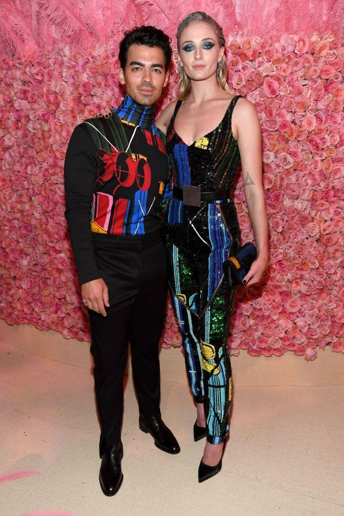 """<p>The couple co-ordinate in Louis Vuitton <a href=""""https://www.elle.com/uk/fashion/celebrity-style/g27306140/met-gala-couples/"""" rel=""""nofollow noopener"""" target=""""_blank"""" data-ylk=""""slk:on the Pink Carpet."""" class=""""link rapid-noclick-resp"""">on the Pink Carpet.</a></p>"""