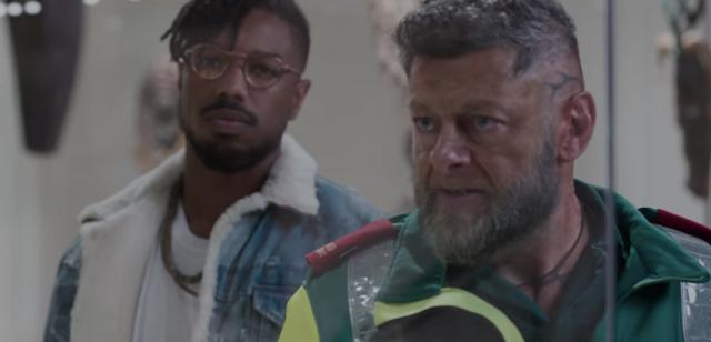 Michael B. Jordan as Killmonger and Andy Serkis as Klaue (Photo: Marvel Studios)