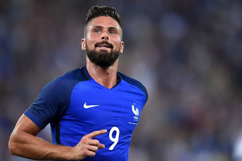 Called up: Giroud will join the France squad for games against Luxembourg and Spain: ALBERTO PIZZOLI/AFP/Getty Images