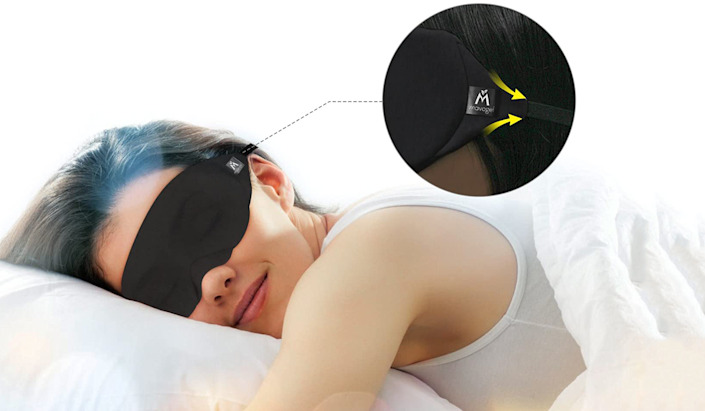That comfy cotton triangle on the side makes for a light-proof seal, cushy fit and even sweeter dreams. (Photo: Amazon)