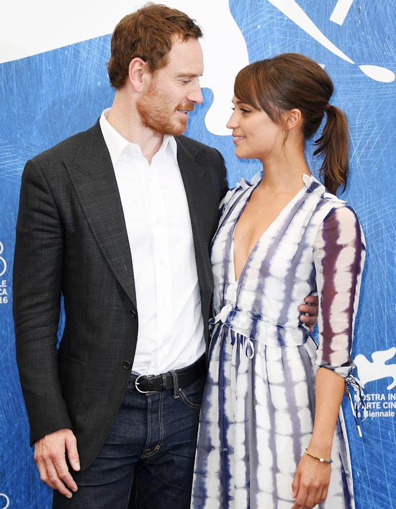 Michael Fassbender 'to marry Alicia Vikander' in secret ...  |Alicia Vikander Michael Fassbender