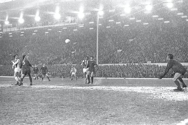 The 1973 UEFA Cup final first leg against Borussia Monchengladbach at Anfield was halted during the first half following the torrential rain, but the Reds went on to win 3-0 on the way to a first European trophy