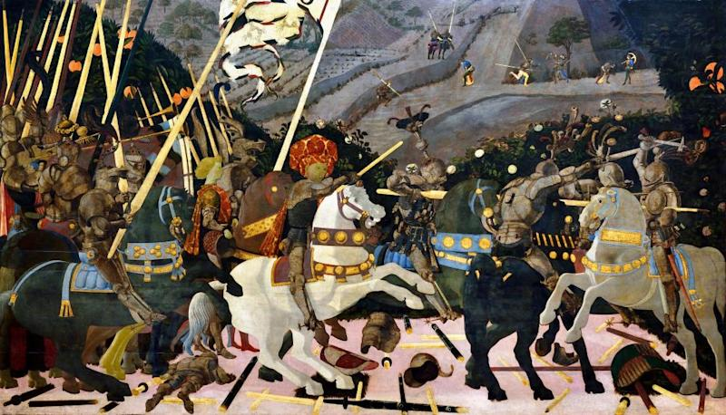 The Battle of San Romano by Paolo Uccello, circa 1438-40.