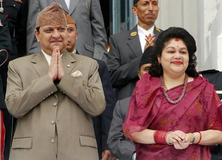 Nepal's former King Gyanendra (L) and Queen Komal (R) said they had tested positive for the virus after mingling with millions of pilgrims at a religious festival in India