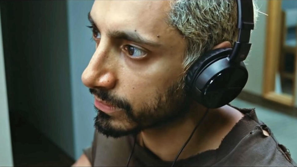 "As with so many festival favourites, this <a href=""https://uk.movies.yahoo.com/sound-metal-riz-ahmed-deafness-hearing-loss-162020767.html"" data-ylk=""slk:story of a drummer losing his hearing;outcm:mb_qualified_link;_E:mb_qualified_link;ct:story;"" class=""link rapid-noclick-resp yahoo-link"">story of a drummer losing his hearing</a> has been on a very long road. It first premiered at the Toronto Film Festival way back in September 2019 and then had its US release in November. Riz Ahmed is receiving awards buzz for his performance, so this is very much a must-see. (Credit: Vertigo Releasing)"