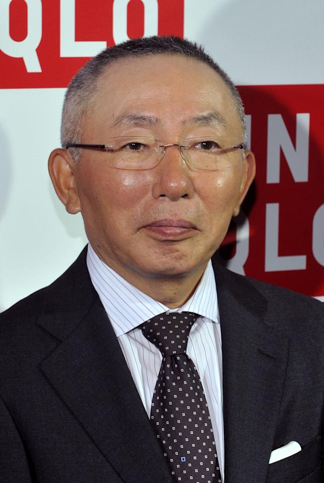 NEW YORK, NY - OCTOBER 13:  UNIQLO Founder Tadashi Yanai attends the grand opening of the UNIQLO New York 5th Avenue Global Flagship Store on October 13, 2011 in New York City.  (Photo by Henry S. Dziekan III/Getty Images)