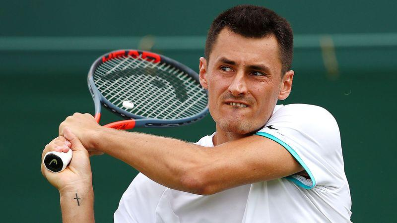 Bernard Tomic in action at Wimbledon, where he caused more controversy. Image: Getty