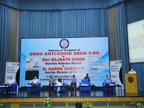The launch of the DRDO's new anti-COVID drug.