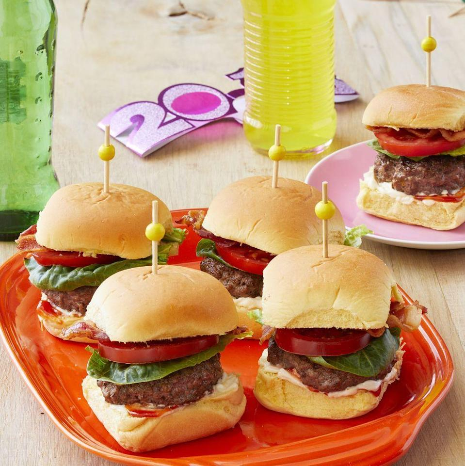 """<p>Summer isn't just tomato season, it's <a href=""""https://www.thepioneerwoman.com/food-cooking/recipes/a36016080/bacon-cheeseburger-recipe/"""" rel=""""nofollow noopener"""" target=""""_blank"""" data-ylk=""""slk:burger season"""" class=""""link rapid-noclick-resp"""">burger season</a>, too! Combine the two with these mini BLT burgers and thank us later.</p><p><a href=""""https://www.thepioneerwoman.com/food-cooking/recipes/a35729197/blt-slider-recipe/"""" rel=""""nofollow noopener"""" target=""""_blank"""" data-ylk=""""slk:Get the recipe."""" class=""""link rapid-noclick-resp""""><strong>Get the recipe. </strong></a></p><p><a class=""""link rapid-noclick-resp"""" href=""""https://go.redirectingat.com?id=74968X1596630&url=https%3A%2F%2Fwww.walmart.com%2Fsearch%2F%3Fquery%3Dtoothpicks&sref=https%3A%2F%2Fwww.thepioneerwoman.com%2Ffood-cooking%2Fmeals-menus%2Fg36500577%2Ftomato-recipes%2F"""" rel=""""nofollow noopener"""" target=""""_blank"""" data-ylk=""""slk:SHOP TOOTHPICKS"""">SHOP TOOTHPICKS</a></p>"""