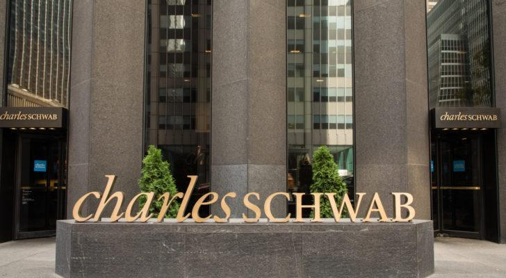 charles schwab sign outside of a building