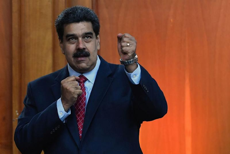 Venezuelan President Nicolas Maduro, seen during an appearance in Caracas on January 25, 2019, faces growing international pressure to call new elections (AFP Photo/Yuri CORTEZ)