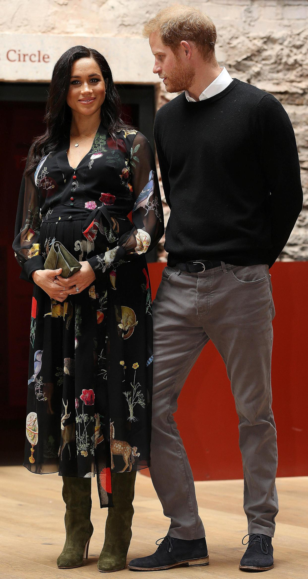"""Meghan and Harry, pictured in Bristol last week. Nick Ede says Meghan has """"the support of the Royal Family"""" [Photo: Getty]"""