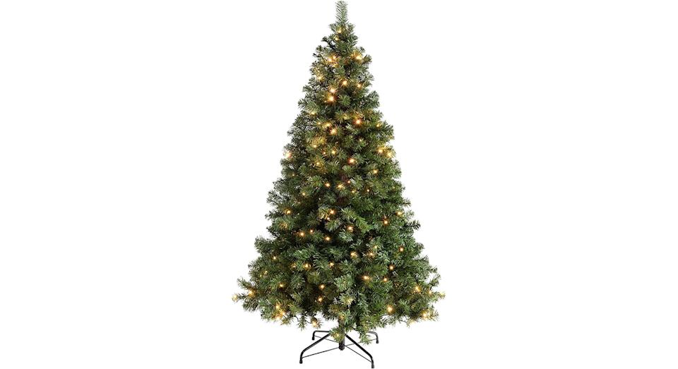 Pre-Lit Spruce Multi-Function Christmas Tree with 200 LED Lights