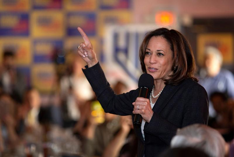 Sen. Kamala Harris, D-Calif., speaks during a campaign stop in Las Vegas, May 16, 2019. (Photo: Steve Marcus/Las Vegas Sun/AP)