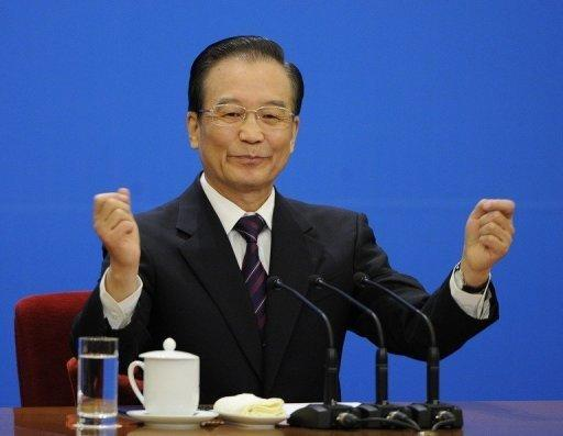 Chinese Premier Wen Jiabao, pictured in March, said the yuan was close to reaching a balanced level and vowed to improve the flexibility of the unit, despite persistent international criticism of Beijing's currency controls