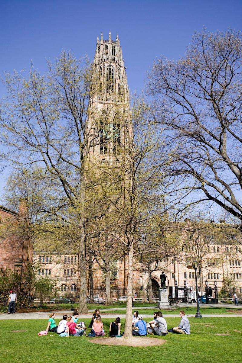 """Two years after the Ivy League school went under a federal investigation, <a href=""""http://www.huffingtonpost.com/2013/08/01/yale-sexual-assault-punishment_n_3690100.html"""" target=""""_blank"""">students and alumni once again say</a> the university fails to properly <a href=""""http://www.huffingtonpost.com/2013/08/23/yale-sexual-assault-punishment_n_3786885.html"""" target=""""_blank"""">handle sexual assaults</a> and harassment. <a href=""""http://newsfeed.time.com/2012/06/15/yale-settles-charges-of-sexual-discrimination/#ixzz2Ly8bXen3"""">June 15, 2012 report from Time magazine</a>: <blockquote>The Department of Education announced on Friday that it had resolved a complaint that Yale University had failed to eliminate sexual discrimination on campus. The complaint, filed by a group of 16 current and former students in March 2011, stemmed from an incident on campus on the evening of Oct. 13, 2010, in which members of the Delta Kappa Epsilon fraternity marched across the Yale campus to a dorm where many female students lived and chanted """"No means yes! Yes means anal!"""" A video of the chanting men was posted online and quickly went viral, spurring an uproar at the university and nationwide.</blockquote> Yale <a href=""""http://www.huffingtonpost.com/2013/05/15/yale-clery-act_n_3280195.html"""" target=""""_blank"""">was fined $165,000 </a>by the feds."""