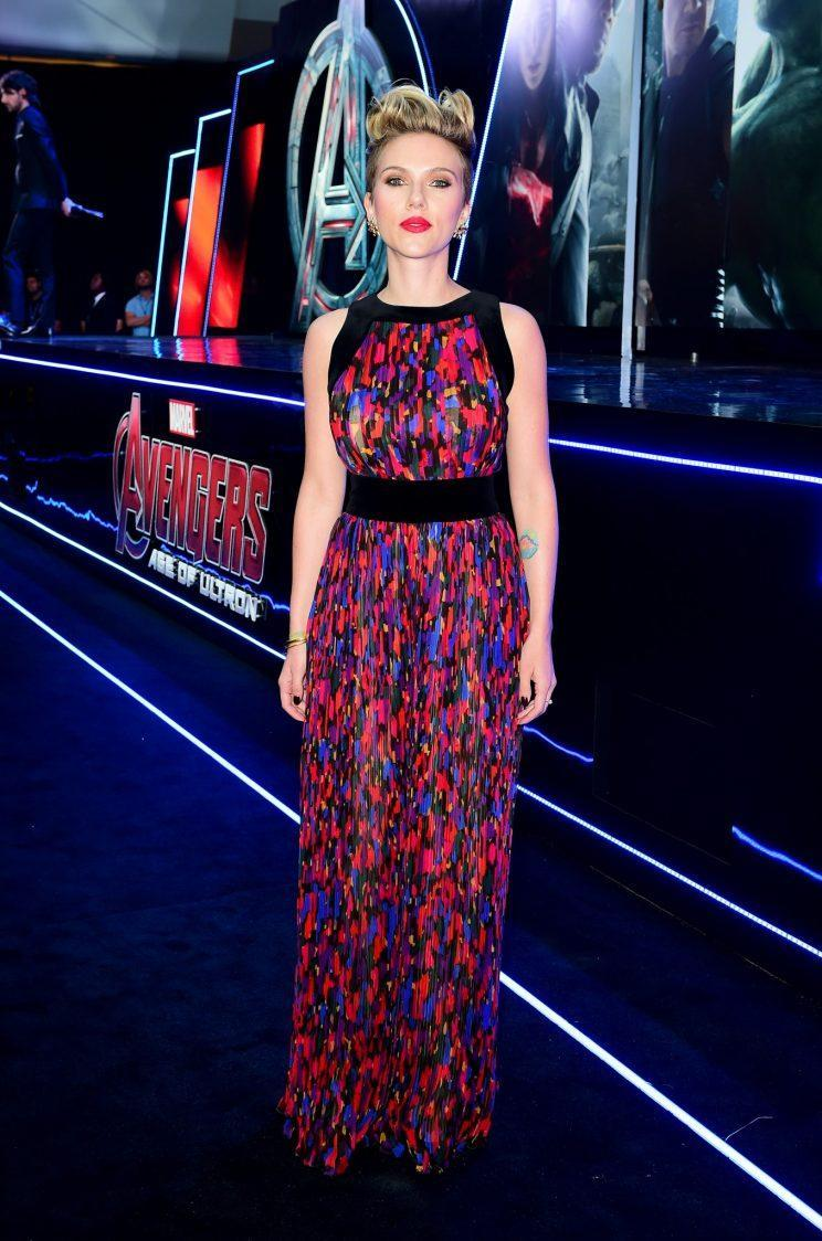 Wearing Balmain at the 2015 London premiere of 'Avengers: Age of Ultron'