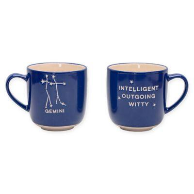 Formations Gemini Zodiac Mug in Blue