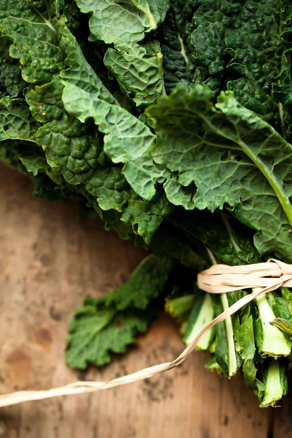 "<p>Potassium, magnesium, antioxidants, fiber: <a href=""https://www.goodhousekeeping.com/health/diet-nutrition/a25587450/kale-nutrition/"" rel=""nofollow noopener"" target=""_blank"" data-ylk=""slk:Kale hits the heart-healthy jackpot"" class=""link rapid-noclick-resp"">Kale hits the heart-healthy jackpot</a>. The minerals in cruciferous vegetables (including cabbage and Brussels sprouts) especially can counterbalance the effects of sodium, warding off hypertension. </p><p><strong>RELATED:</strong> <a href=""https://www.goodhousekeeping.com/food-recipes/healthy/g1436/easy-kale-recipes/"" rel=""nofollow noopener"" target=""_blank"" data-ylk=""slk:30+ Quick and Easy Kale Recipes"" class=""link rapid-noclick-resp"">30+ Quick and Easy Kale Recipes</a></p>"