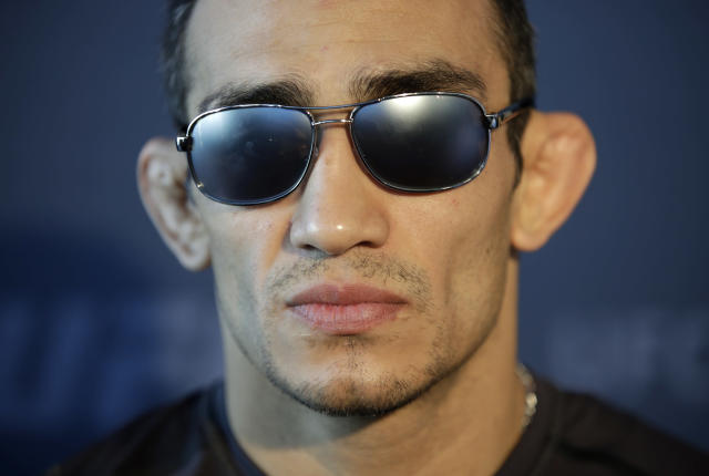 Tony Ferguson, pictured, exchanged gay slurs in Spanish with Fabricio Werdum. (AP)