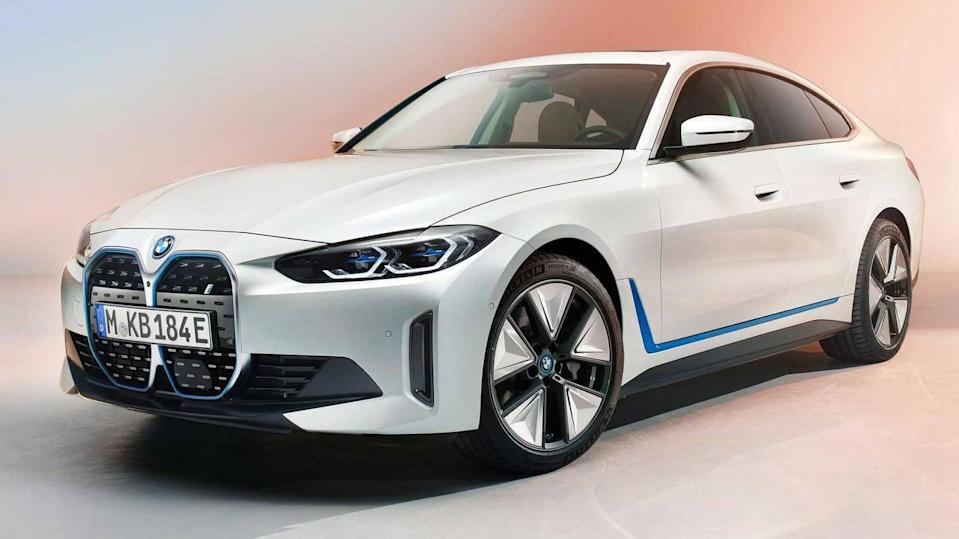 2022 BMW i4 electric sedan, with 483km of range, revealed