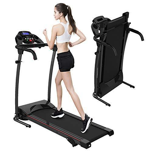 SHAREWIN Smart Folding Treadmill with Manual Incline, LCD Display, Easy Assembly Fitness Moto…