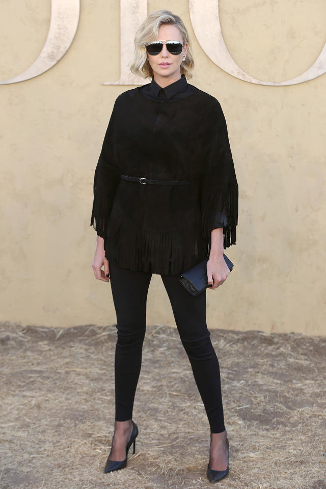 <p>The <i>Mad Max: Fury Road</i> star was stylin' at the Dior Cruise show in Calabasas, Calif. (Photo: Willy Sanjuan/Invision/AP) </p>