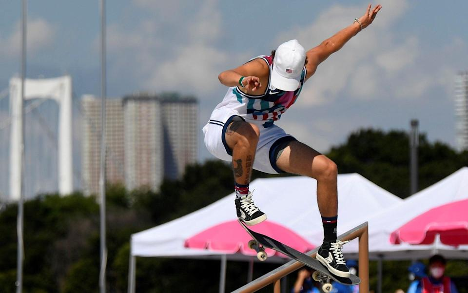Jagger Eaton is is a good position after his heat - REUTERS