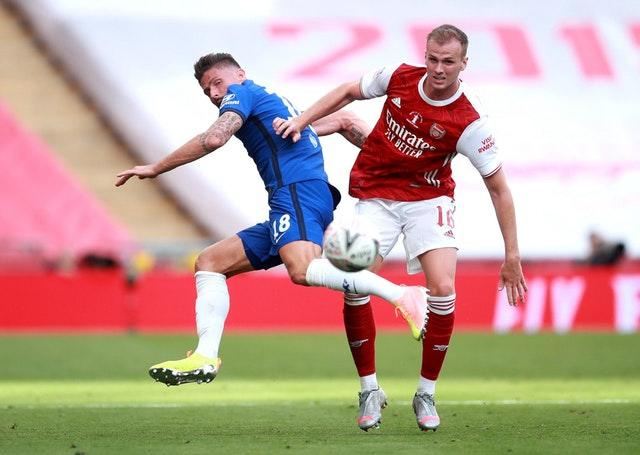 Rob Holding started the FA Cup final