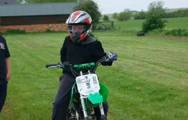 Harry rode motorbikes from a young age and was 'very capable'.