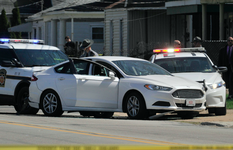 Police gave chase to Stevens before cornering him near a school (AP)