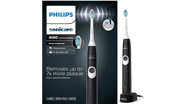 Philips Sonicare Protectiveclean 4100 Rechargeable Electric Toothbrush. (Image via Amazon)