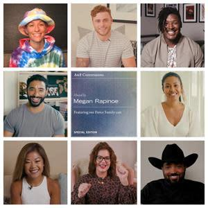 A&F's Instagram series focused on mental health will release episodes throughout October and will feature heartfelt conversations between Megan Rapinoe and other members of A&F's 2020 Fierce Family, including model and trans rights activist, Leyna Bloom; Paralympian and activist, Scout Bassett; former NFL player and poet, Ryan Russell; cowboy, community trailblazer and founding member of the Compton Cowboys, Randy Savvy; model, singer, actor and LGBTQIA+ activist, Laith Ashley; and influencer and self-love advocate Halle Hathaway.