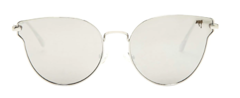 """<p>If your face is widest at the forehead and tapers down, you'll be well served by a coquettish cat-eye frame.<span></span></p><p><span>Melt Flat Cat-Eye Sunglasses, $48, <a rel=""""nofollow"""" href=""""http://www.forever21.com/Product/Product.aspx?BR=f21&Category=acc_glasses-sunglasses-cat-eye&ProductID=1000207794&VariantID=""""><u>forever21.com</u></a>.<span></span><br></span></p>"""