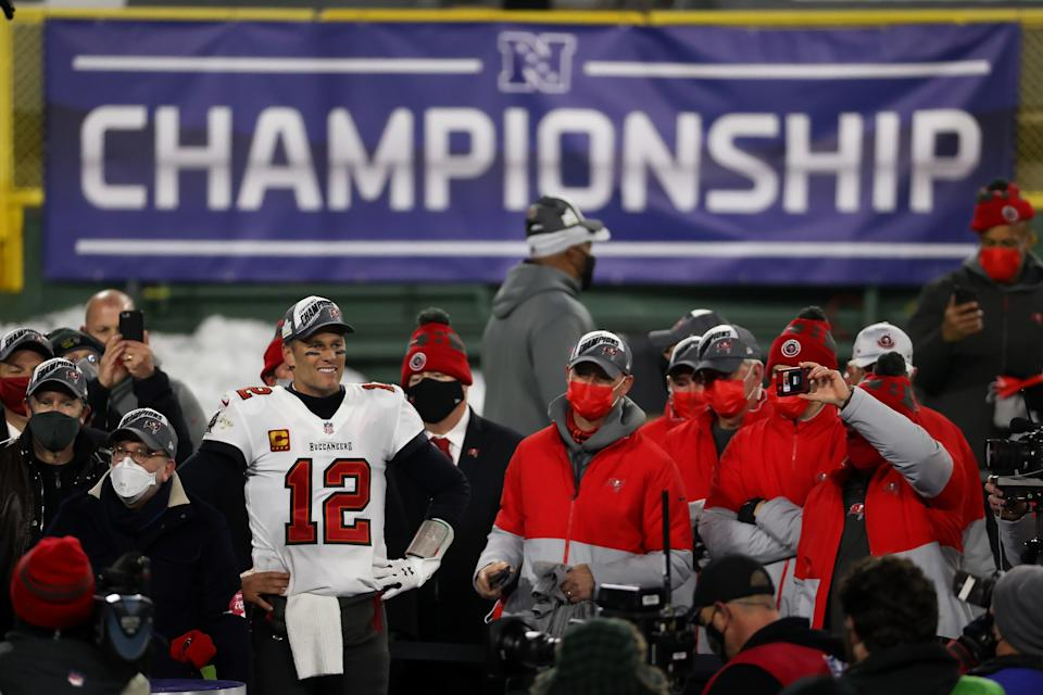 Tom Brady and the Bucs delivered big ratings. (Dylan Buell/Getty Images)