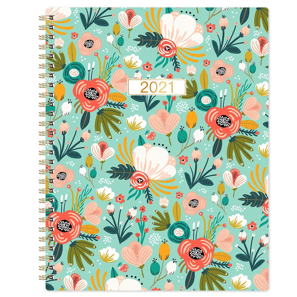 """<h3>2021 Weekly & Monthly Floral Planner</h3><br>Readers love planners — especially those of the floral-patterned variety that is 11% off (and at its lowest price yet) for Prime Day. This top-rated weekly and monthly style for the 2021 calendar year is a favorite for its stylistic simplicity and organizational efficiency. Plus, it also makes some superb under-$10-holiday gift material.<br><br><strong>4.7 out of 5 stars and 355 reviews</strong><br><br><strong>Frasukis Store</strong> 2021 Weekly & Monthly Floral Planner, $, available at <a href=""""https://amzn.to/3drcvjn"""" rel=""""nofollow noopener"""" target=""""_blank"""" data-ylk=""""slk:Amazon"""" class=""""link rapid-noclick-resp"""">Amazon</a>"""