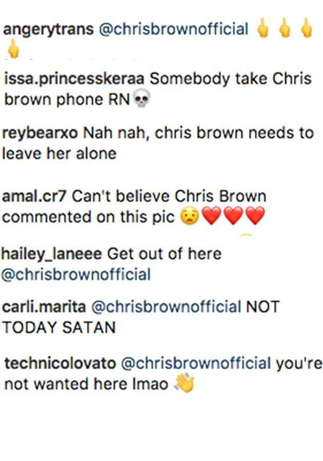 Fans were quick to call out Chris over his comment. Source: Instagram