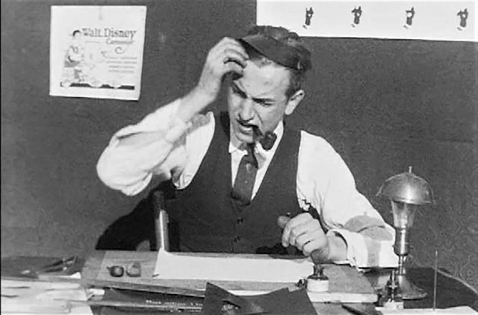 Walt Disney himself appeared in one of his cartoon shorts, which he called Laugh-O-grams. He was only 20 when he formed his Laugh-O-gram studio in Kansas City. It soon went bankrupt, and Disney headed to California to make his fortune.