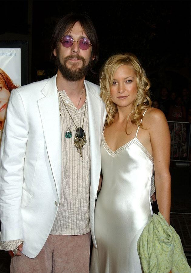 ...Clearly Kate (with ex Chris Robinson in happier times) loves facial hair! Source: Getty