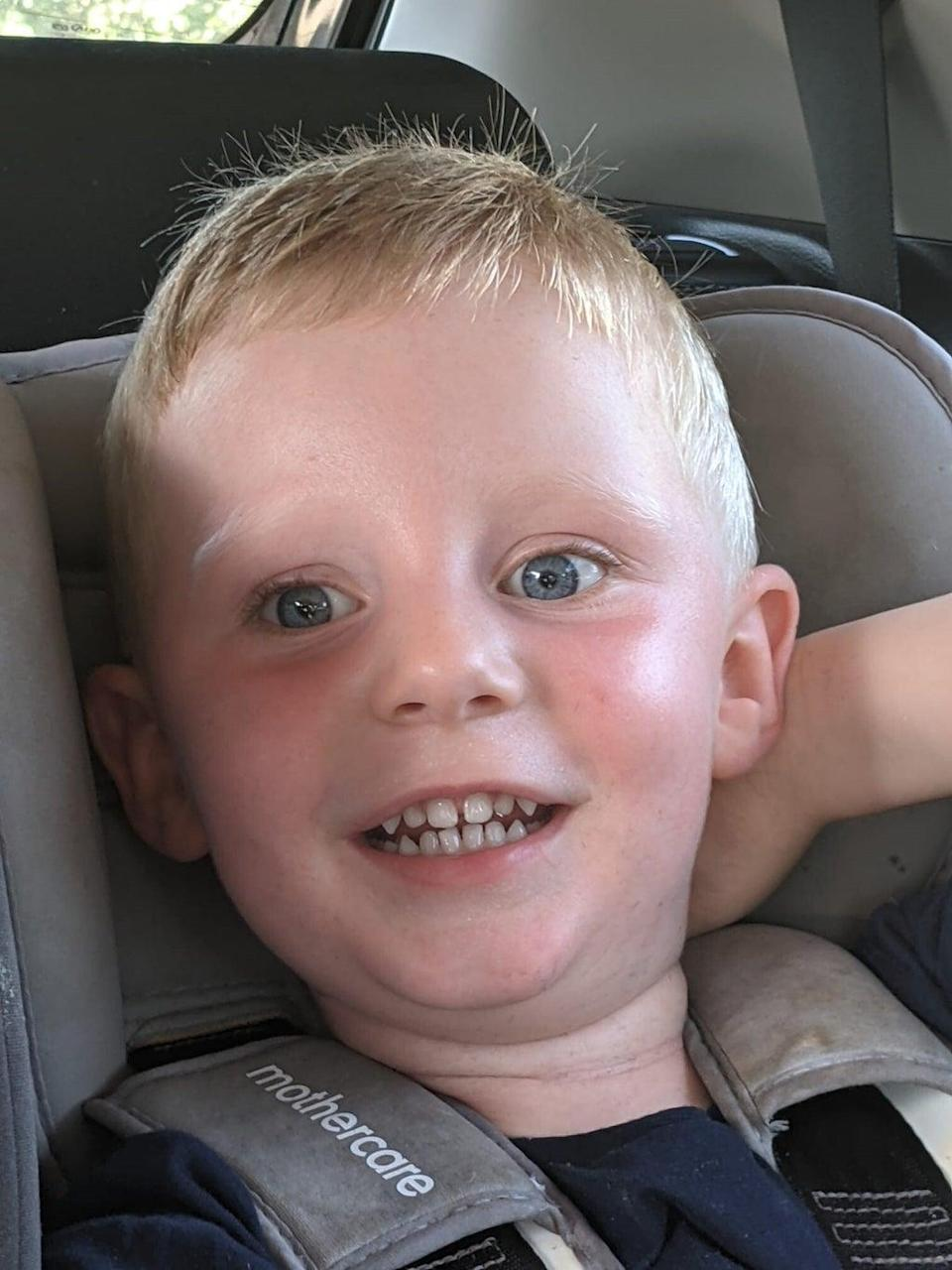Reid Steele, two, who died in hospital after being found critically injured at a house in Bridgend (South Wales Police/PA) (PA Media)