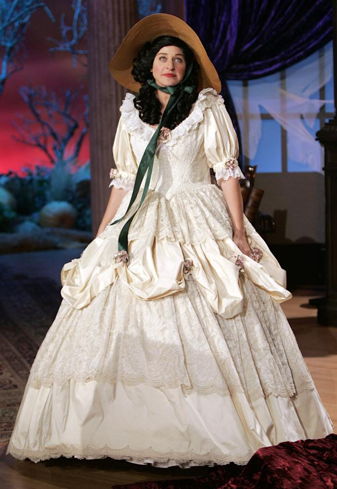 This <em>Gone With the Wind</em> dress was a big departure from DeGeneres's signature slim suits.