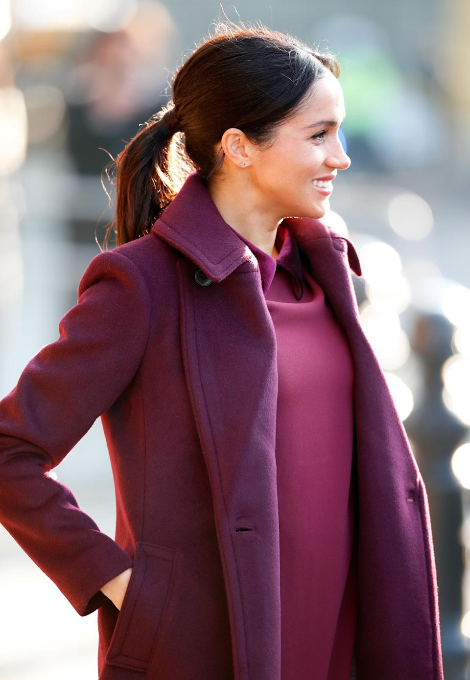 The Duchess of Sussex (pictured) was last seen on a visit to the Hubbs Community Kitchen back in November [Photo: Getty]