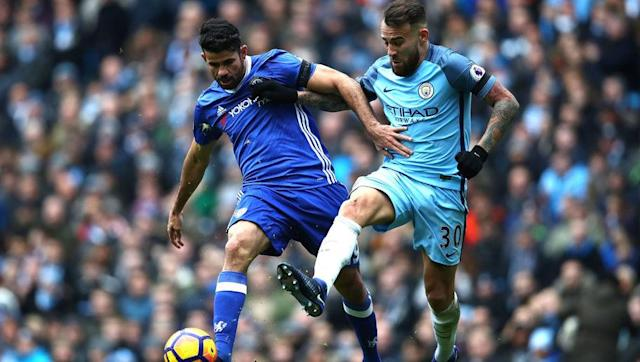 <p>Chelsea's in form Spanish striker has struck the net 17 times for the Blues so far this season and will hope to dent Manchester City's title hopes this Wednesday night. </p> <br><p>The 28-year-old forward has revitalised himself under Antonio Conte's leadership and is one of the key factors in the London side's versatile attack. However, one man that will look to stop the dominating striker is City's defender Nicolas Otamendi.</p> <br><p>The Argentine will try to keep up with Costa in terms of pace and in physical aspects throughout the match. </p>