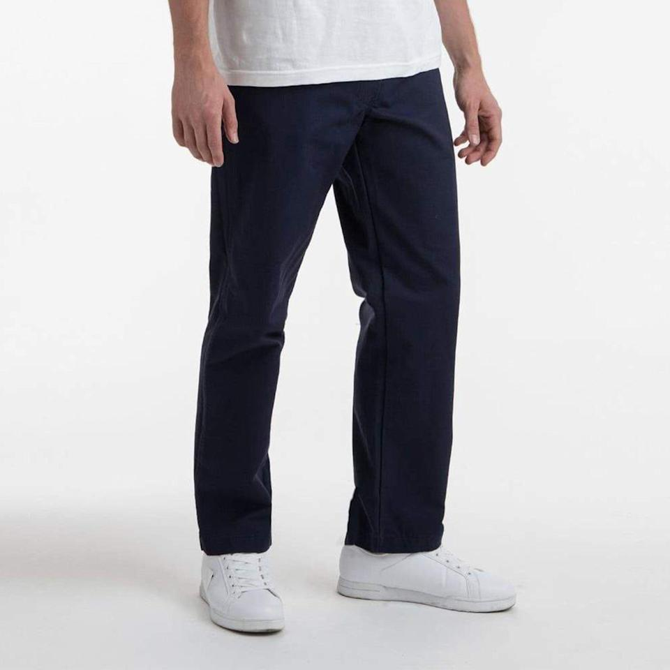 """<p><strong>Los Angeles Apparel</strong></p><p>losangelesapparel.net</p><p><strong>$78.00</strong></p><p><a href=""""https://go.redirectingat.com?id=74968X1596630&url=https%3A%2F%2Flosangelesapparel.net%2Fcollections%2Fmen-pants-work-pants%2Fproducts%2Frtwl01-twill-work-pants-navy%3Fvariant%3D31828466892862&sref=https%3A%2F%2Fwww.esquire.com%2Fstyle%2Fmens-fashion%2Fg34481068%2Fbest-work-pants-for-men%2F"""" rel=""""nofollow noopener"""" target=""""_blank"""" data-ylk=""""slk:Buy"""" class=""""link rapid-noclick-resp"""">Buy</a></p>"""